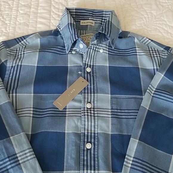 JCREW Slim Untucked Organic Button Down Shirt  XS